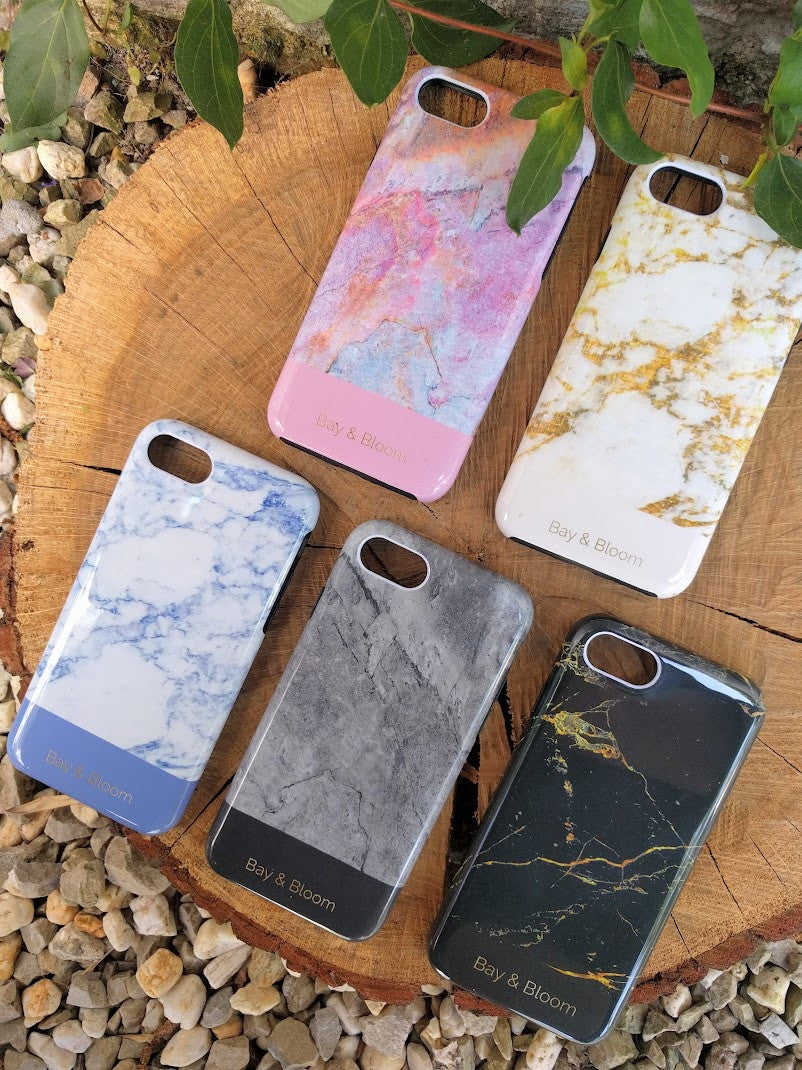Bay & Bloom iPhone cover - Black Marble (iPhone 6, 6 plus, 7 & 7 plus) - Luxedy