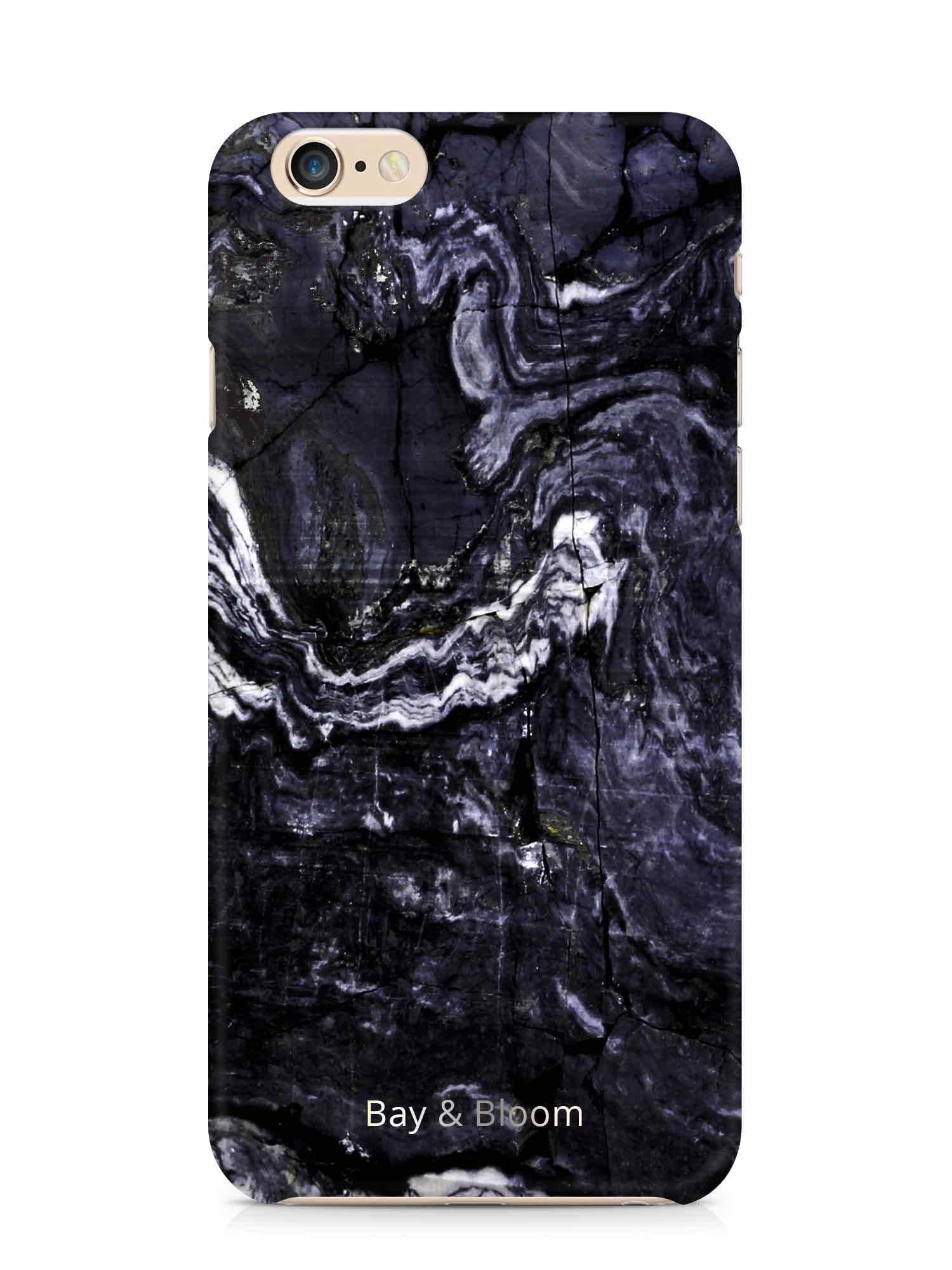 Bay & Bloom iPhone cover - Dark Blue Marble (iPhone 5 & 6) - Luxedy - 1