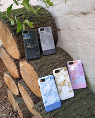 Bay & Bloom iPhone cover - Blue Marble (iPhone 6, 6 plus, 7 & 7 plus) - Luxedy