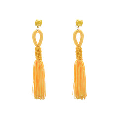 Oorbellen Long Tassel Yellow - Luxedy