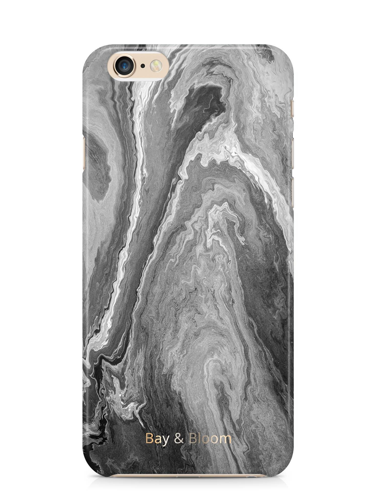 Bay & Bloom iPhone cover - Grey Stone (iPhone 5 & 6) - Luxedy
