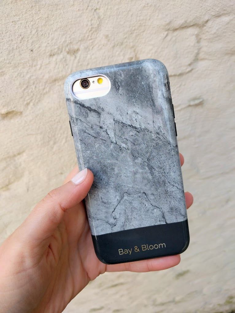 Bay & Bloom iPhone cover - Grey Marble (iPhone 6, 6 plus, 7 & 7 plus)