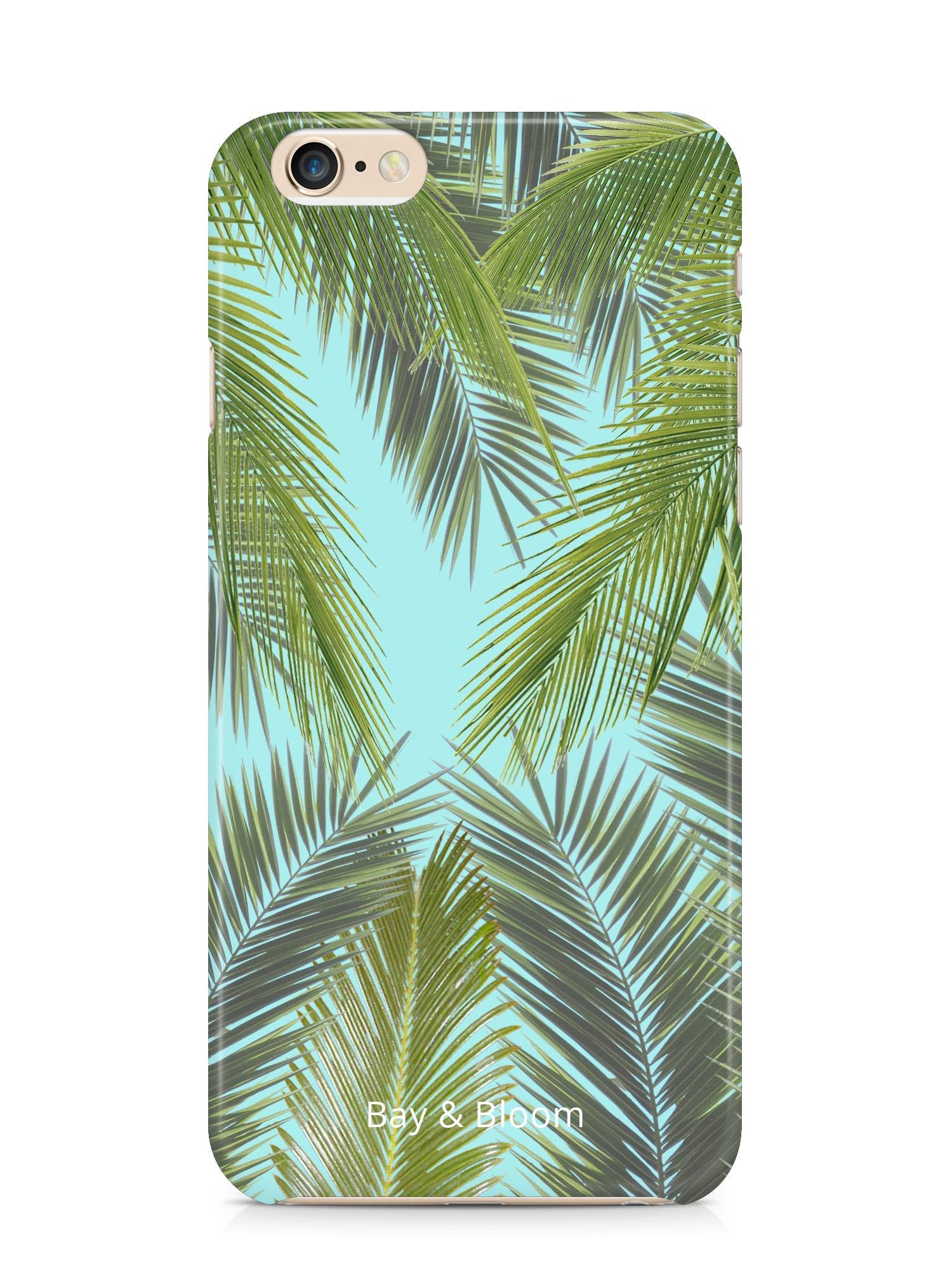 Bay & Bloom iPhone cover - Blue Leaves (iPhone 5 & 6) - Luxedy