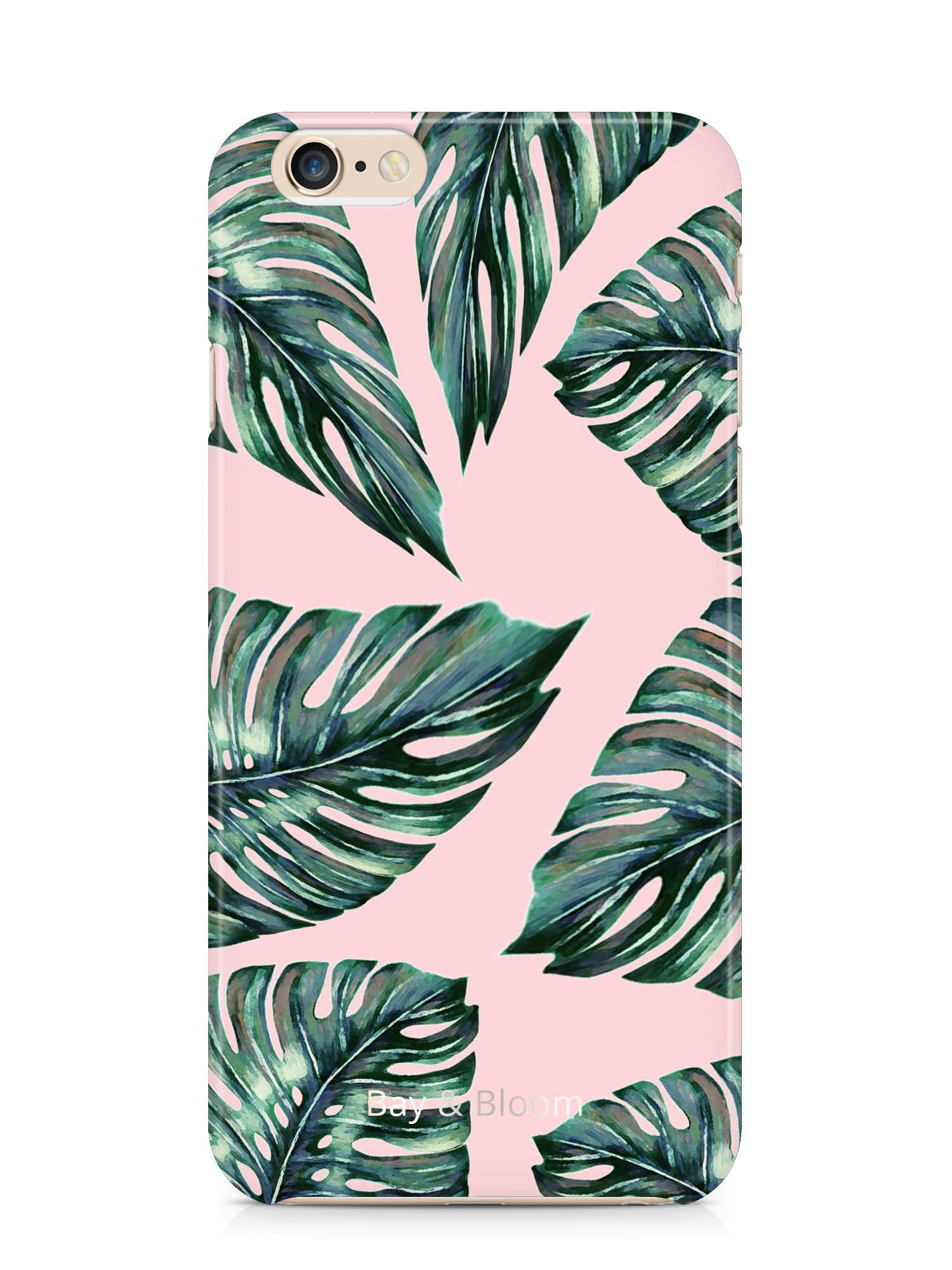 Bay & Bloom iPhone cover - Pink Leaves (iPhone 5 & 6) - Luxedy - 1