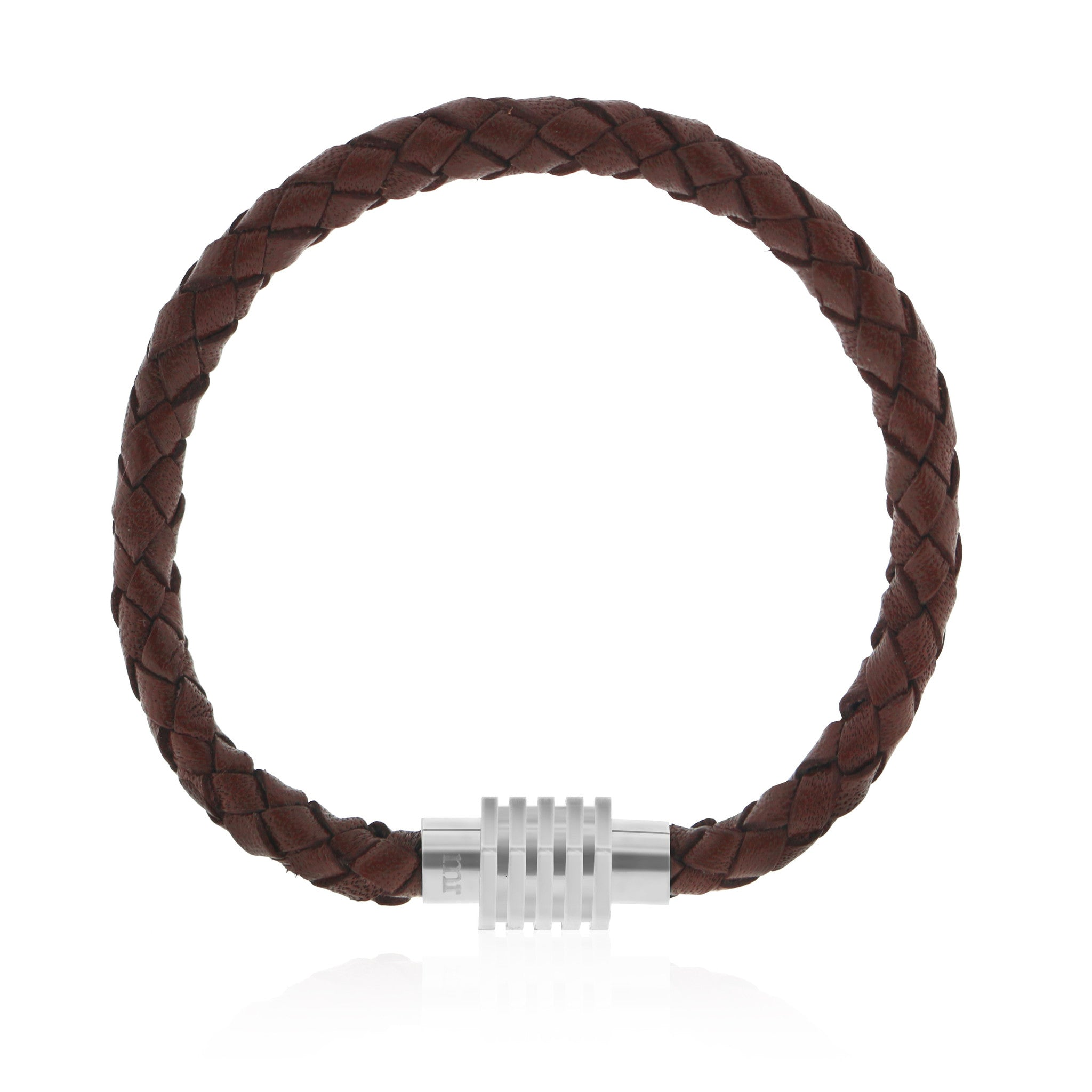 Mr. Jewellery - Braided Bracelet Brown - Luxedy