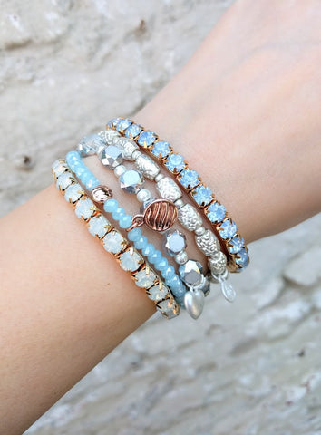 Miracles by Annelien Coorevits - Armband Big Swarovski Blue