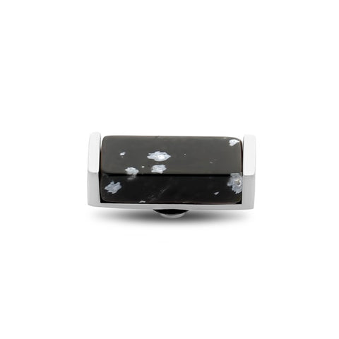 Melano - Steen Gemstone Bar Zilver Black Picasso