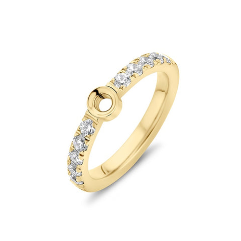 Melano - Ring Twisted Crystal Goud
