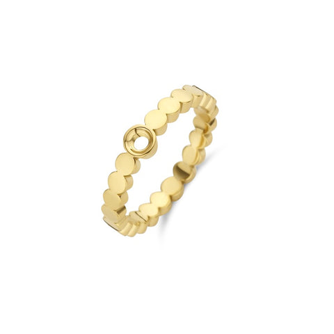 Melano - Ring Twisted Wave Goud