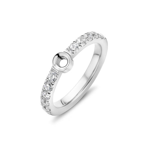 Melano - Ring Twisted Crystal Zilver