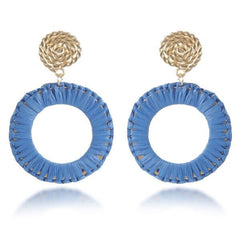 Like Jewellery - Oorbellen Zayba Blue