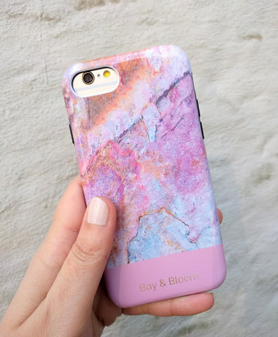 Bay & Bloom iPhone cover - Pink Marble (iPhone 6, 6 plus, 7 & 7 plus) - Luxedy