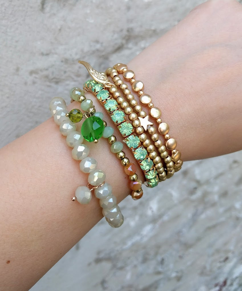 Miracles by Annelien Coorevits - Armband Big Swarovski Mint