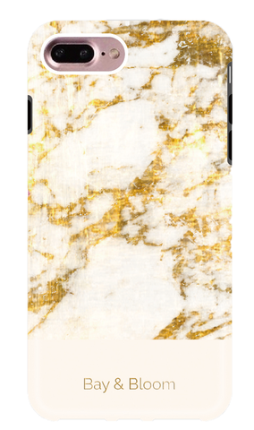 Bay & Bloom iPhone cover - White Marble (iPhone 6, 6 plus, 7 & 7 plus) - Luxedy