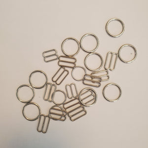 Silver Metal Rings and Sliders