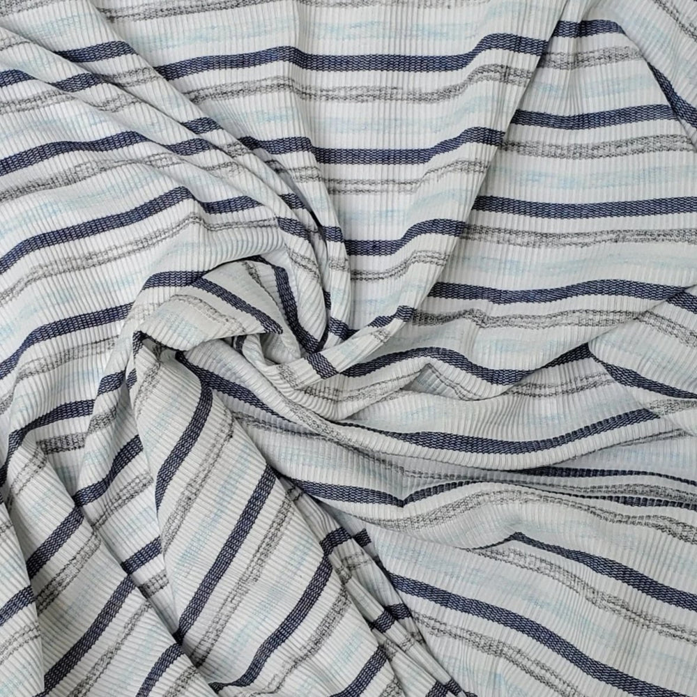 Blue and Grey Faded Stripes