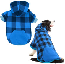 Load image into Gallery viewer, Plaid Dog Hoodie Pet Clothes Sweaters with Hat Fits For All Breeds 5 Colors