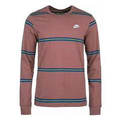 Men's Long Sleeve T-Shirt Nike CI6205 661 Stripes Burgundy