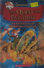 Load image into Gallery viewer, Geronimo Stilton and the Kingdom of Fantasy: (Book2) Quest for Paradise