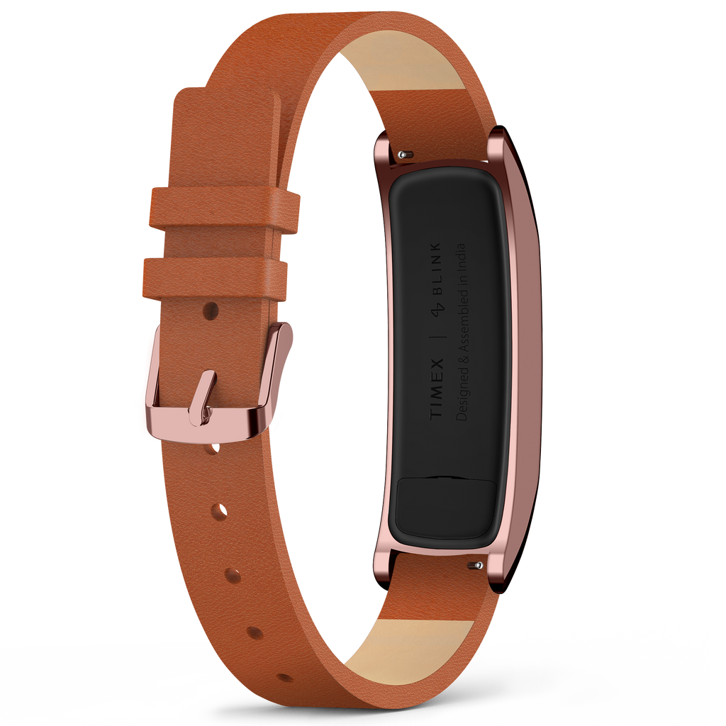 Timex | Blink - RoseGold Case : Tan Leather Strap
