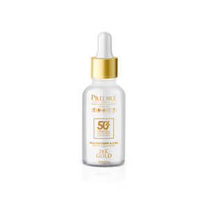 50X Premium Multi-Vitamin A, C, & E Retinol & Collagen Booster 24K Gold Serum
