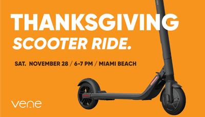 Thanksgiving Scooter Ride