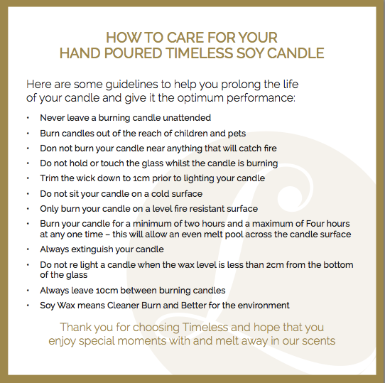 How To Care For Your Candle
