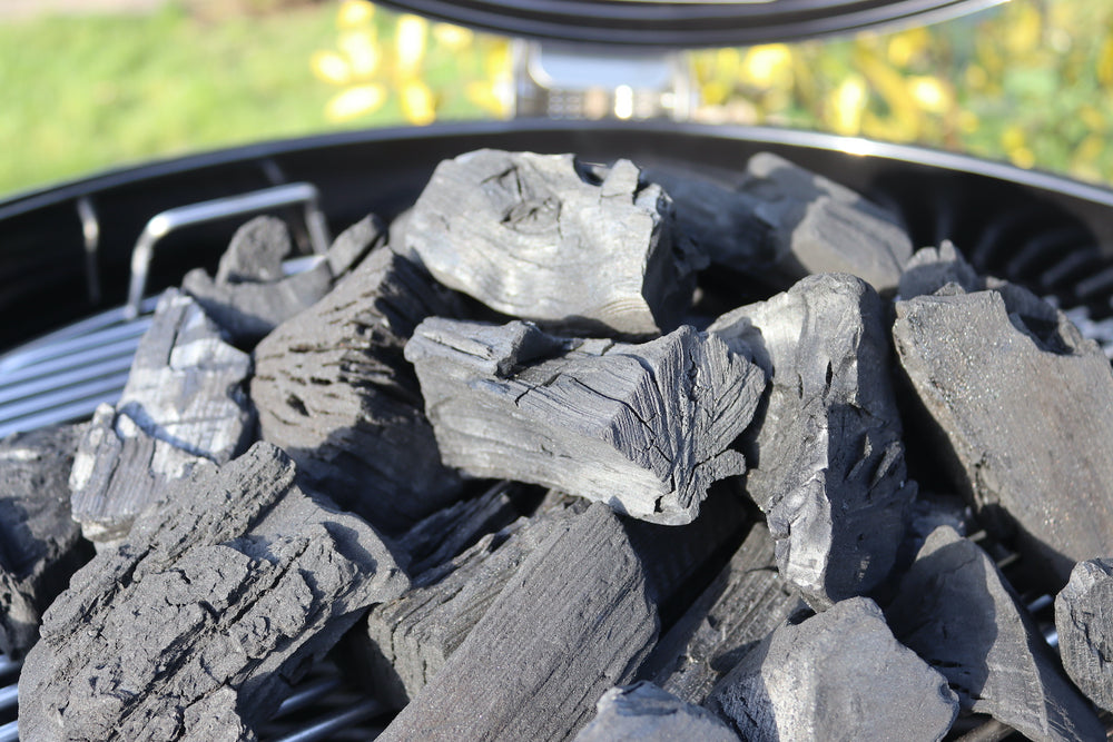 Sustainable British Charcoal on a Barbecue