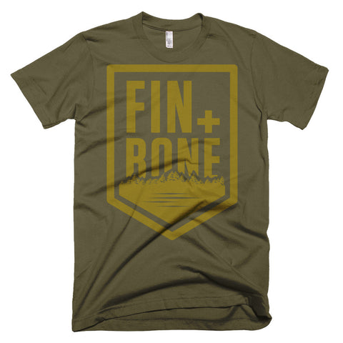 Brass shield men's t-shirt