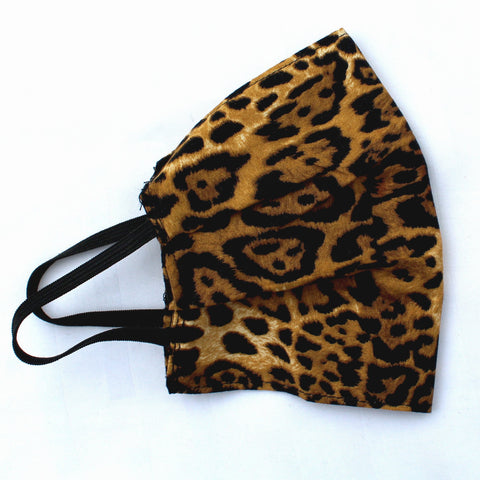 Leopardskin Pleated Face Covering