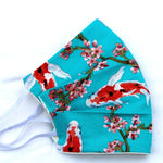 Turquoise Carp Pleated Face Covering