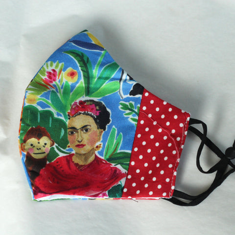 Blue Frida Kahlo  Face Covering