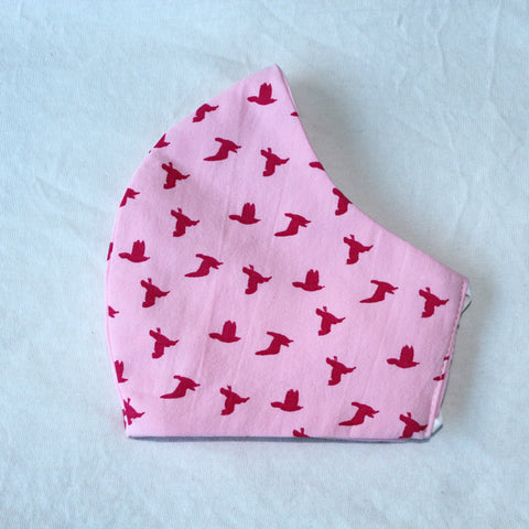 Pink Birds Face Covering