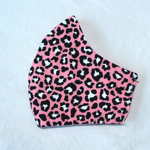 Pink Leopard Face Covering