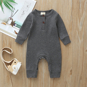 River Grey Newborn Cotton Knitted Jumpsuit