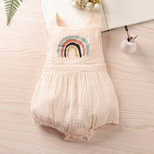 Load image into Gallery viewer, Rainbow Baby Beige Romper
