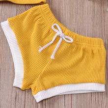 Load image into Gallery viewer, Cali Yellow T-shirt and Short Set