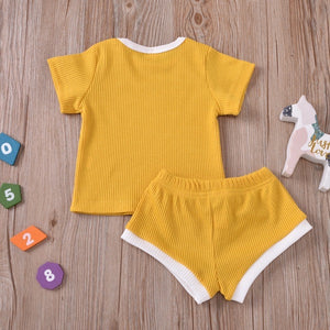 Cali Yellow T-shirt and Short Set