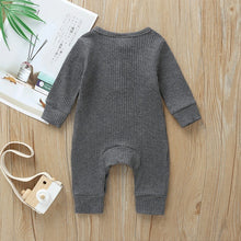 Load image into Gallery viewer, River Grey Newborn Cotton Knitted Jumpsuit