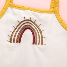 Load image into Gallery viewer, Rainbow Baby Cream Embroidered Bodysuit