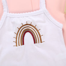 Load image into Gallery viewer, Rainbow Baby White Embroidered Bodysuit