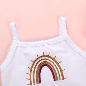 Rainbow Baby White Embroidered Bodysuit