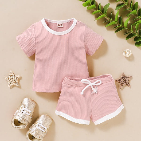 Cali Pink T-shirt and Short Set