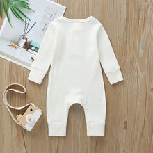 Load image into Gallery viewer, River White Cotton Knitted Jumpsuit