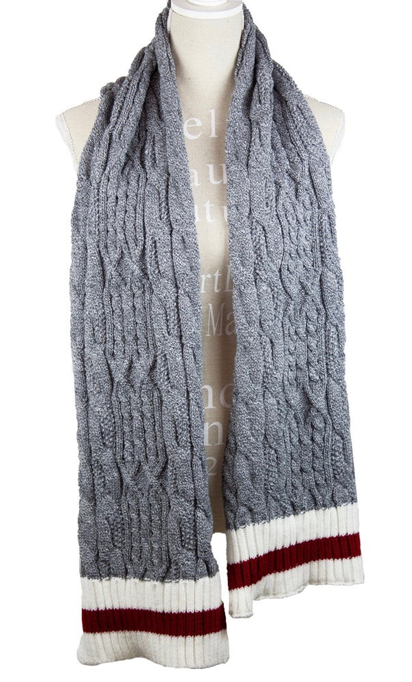 True North Cable Knit Scarf