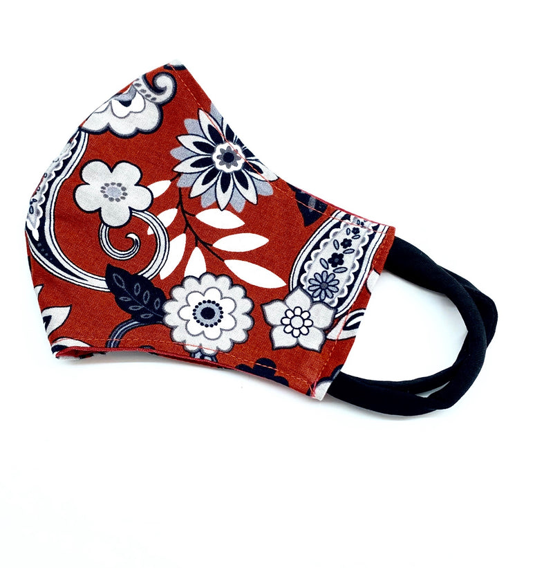 Face Mask - Burgundy Floral