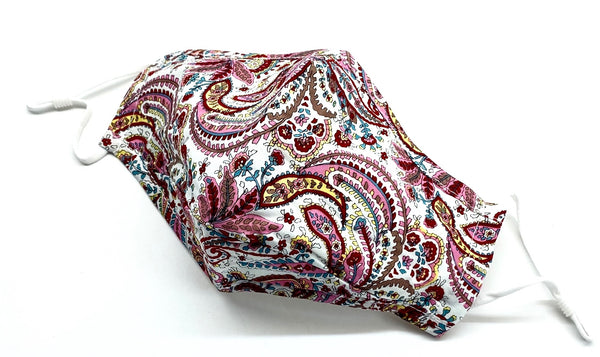 Face Mask - Pink Paisley