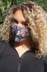 Face Mask - Navy Paisley