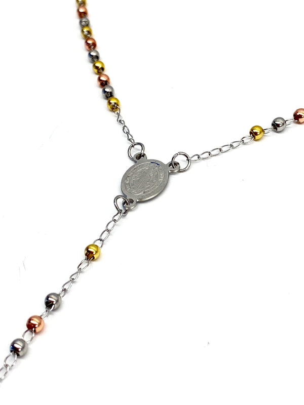 Rosary Necklace - Tri-Color