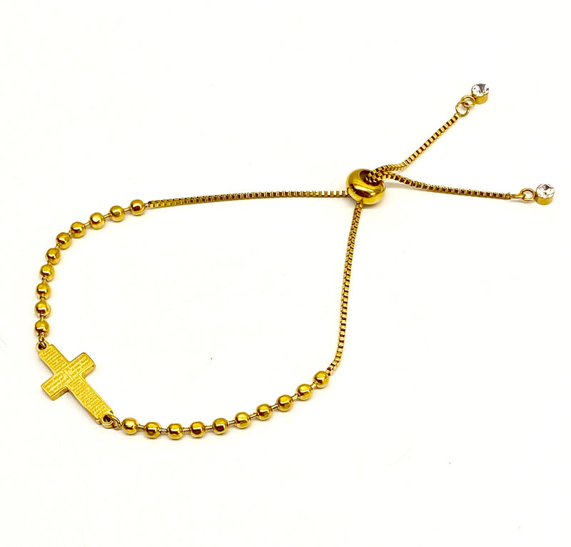 Cross Bracelet - Gold
